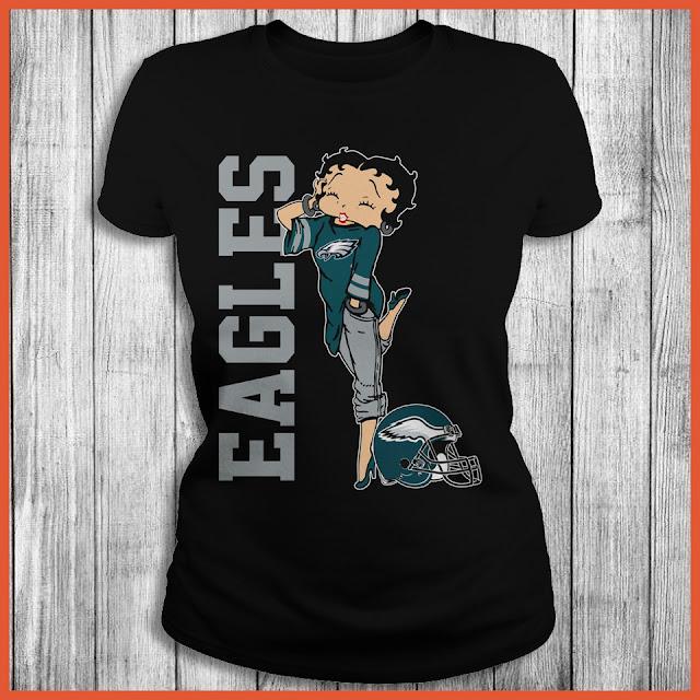 Philadelphia Eagles Betty Boops T-Shirt