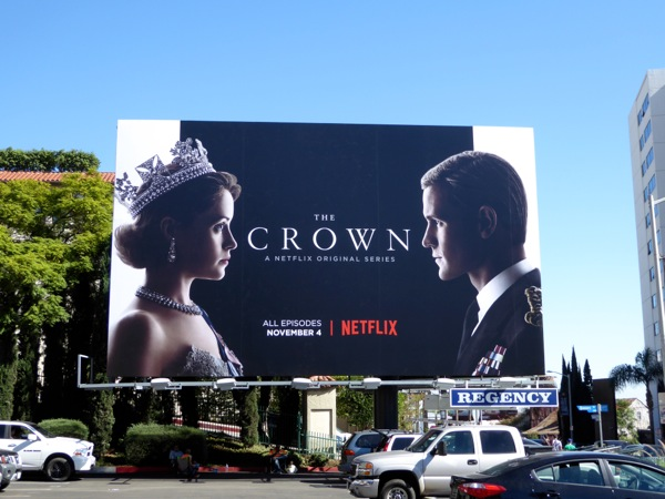 Crown Netflix TV series billboard