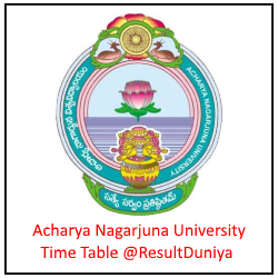 ANU Degree Exam Time Table 2018