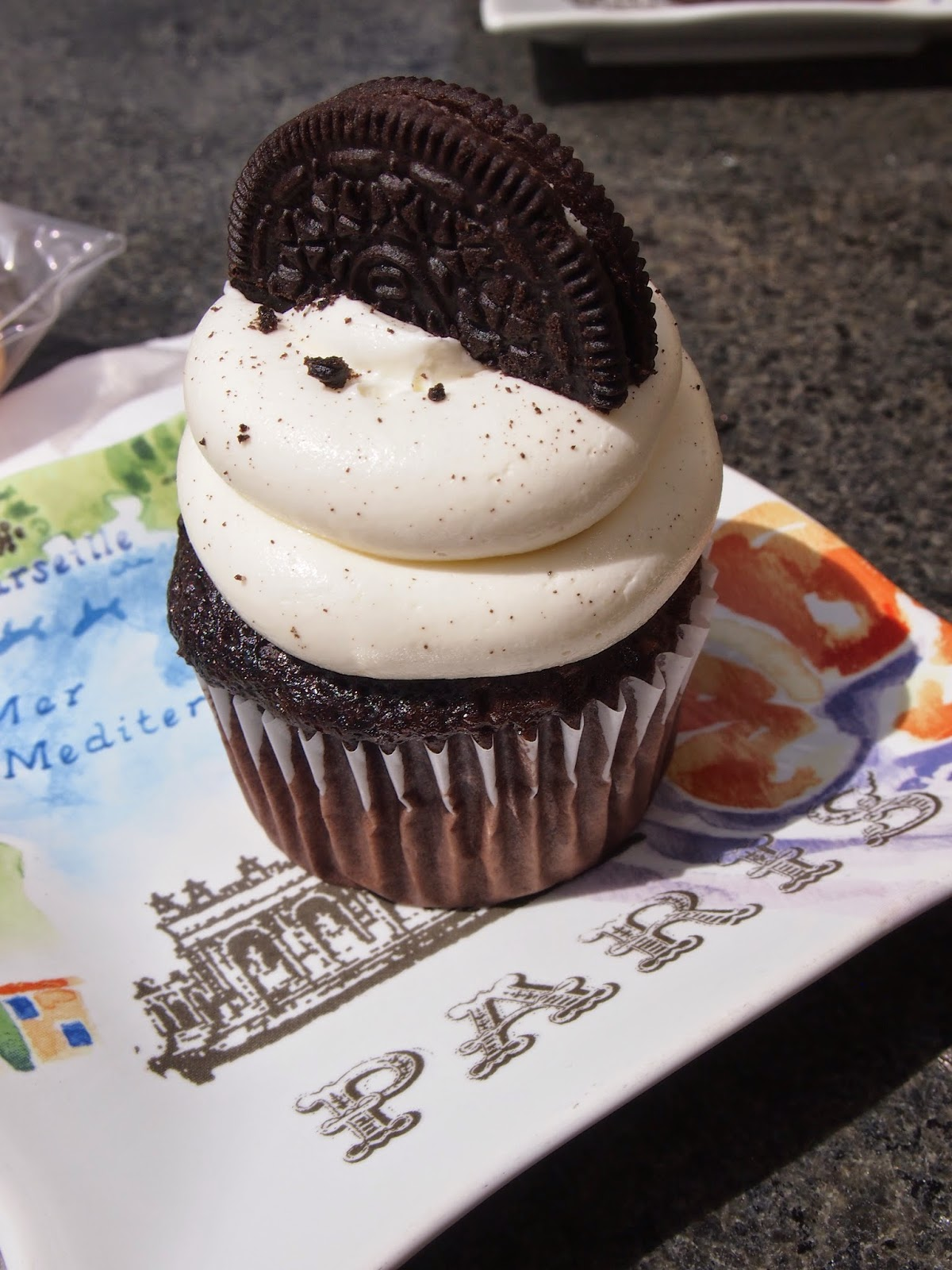 Oreo cupcake from the silver spoon in east greenwich rhode island