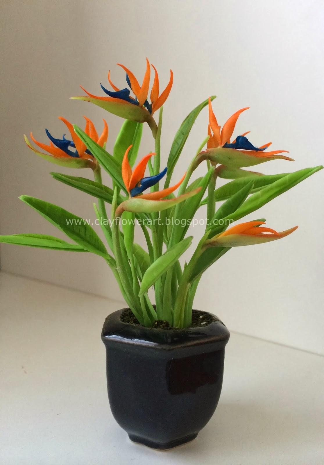 Clay Flower Art Bird Of Paradise