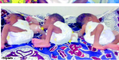 52 year old gives birth triplets minna niger state