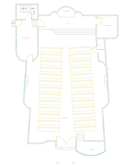 plano templo zapote de negretes planta arquitectonica