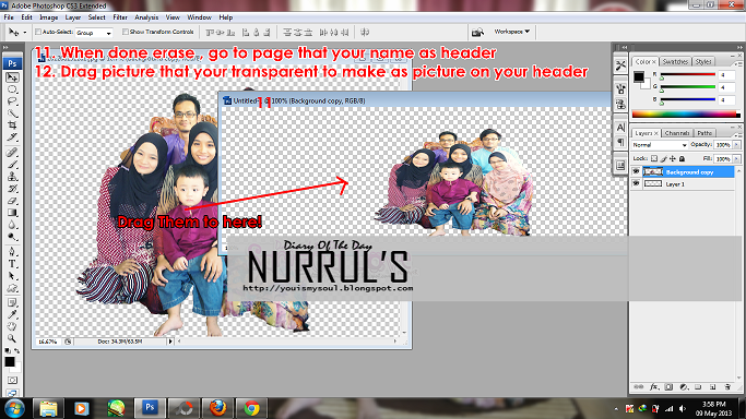 Transparent Header/Images with Photoshop CS3 5