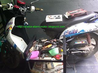 Cara pasang alarm motor pada Yamaha Fino Fi