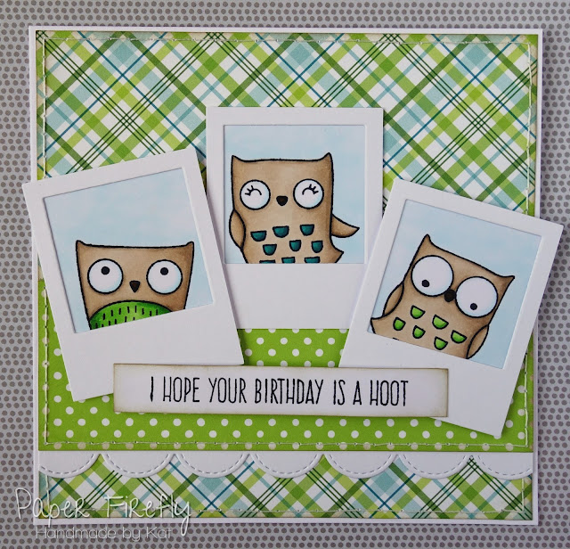 Birthday card with cute owls (images and sentiment from My Favorite Things)