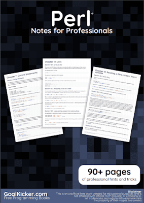 perl programming pdf book notes download for free