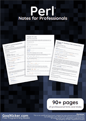 Perl programming pdf book Notes | Free Download