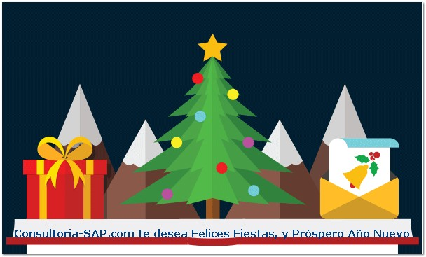 Felices Fiestas y Prospero Ano Nuevo - Consultoria-SAP