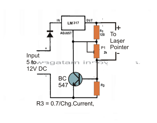laser diode power supply circuit diagram