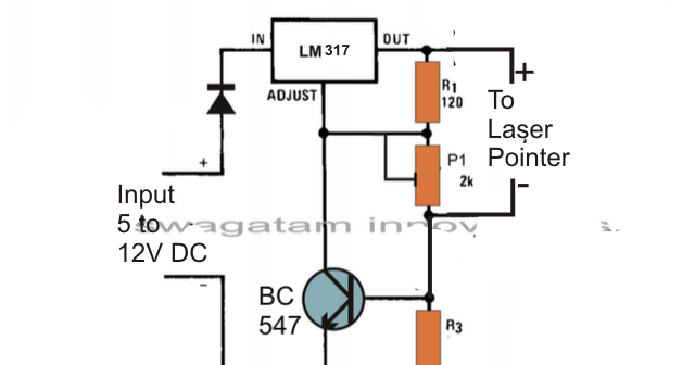lm317 laser diode driver circuit