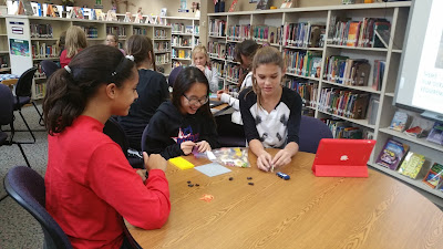 Students participating in stop motion movie contest - using LEGOS