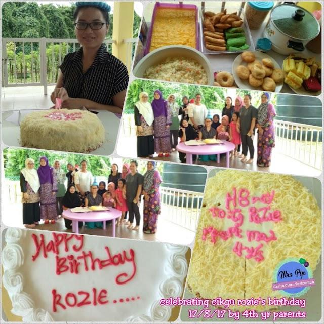 Kejutan birthday untuk Cikgu Rozie tersayang
