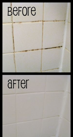 Make shower grout shine again