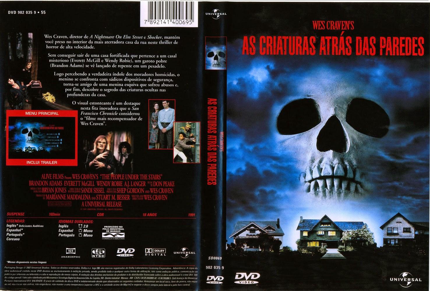 As Criaturas Atras das Paredes DVD Capa