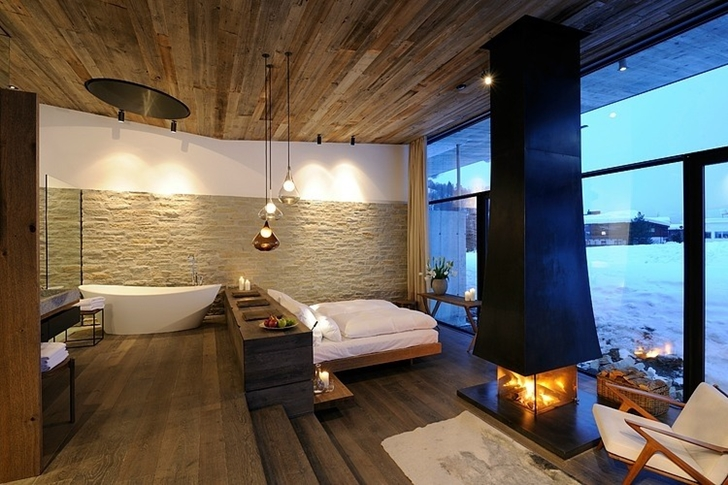 Contemporary bedroom in Boutique Hotel, Austria