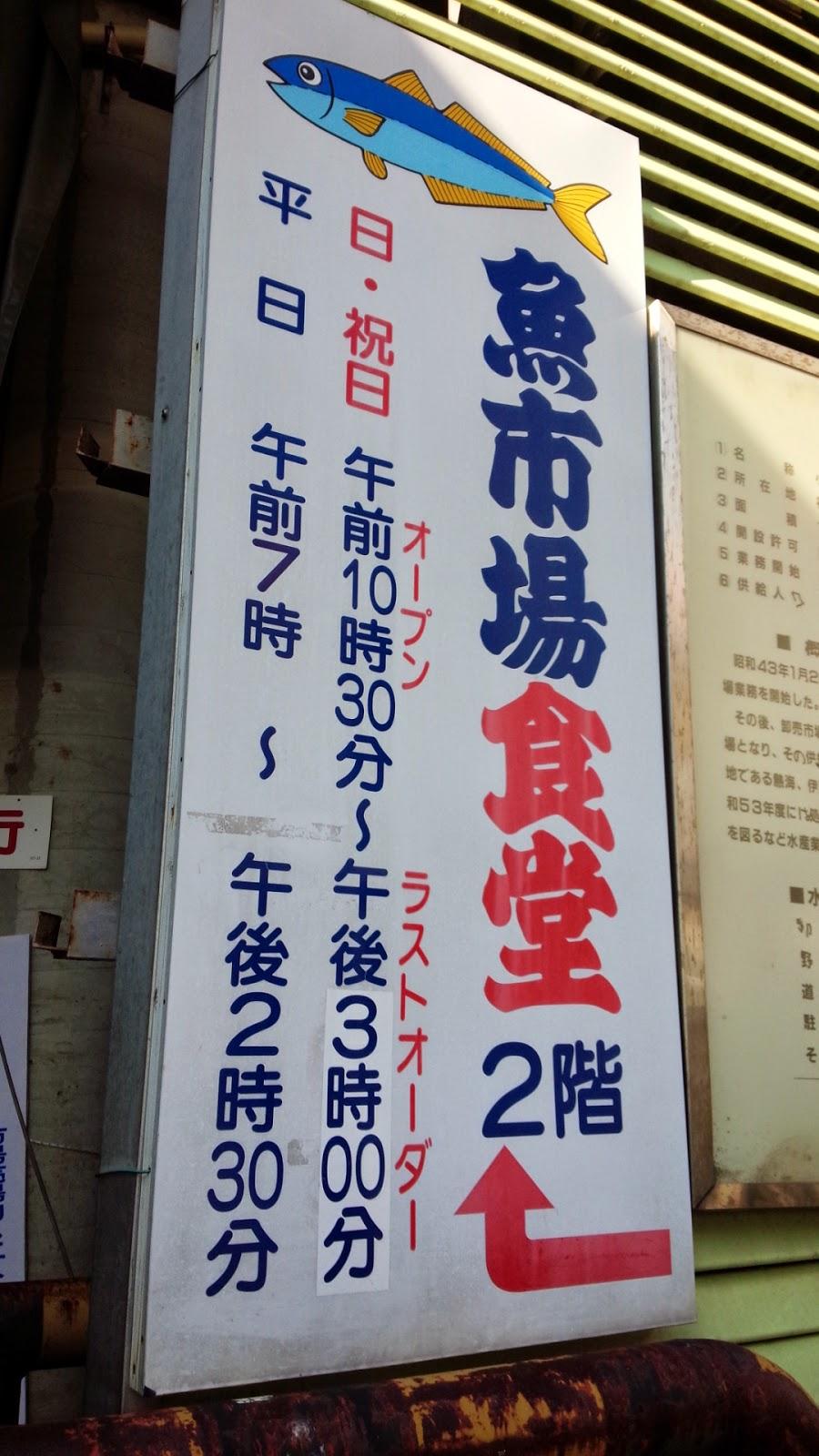 魚市場食堂の看板