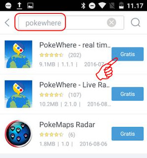 Download PokeWhere apk Full via 9Apps Android