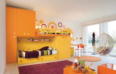 warm-orange-and-yellow-kids-bedroom-designs