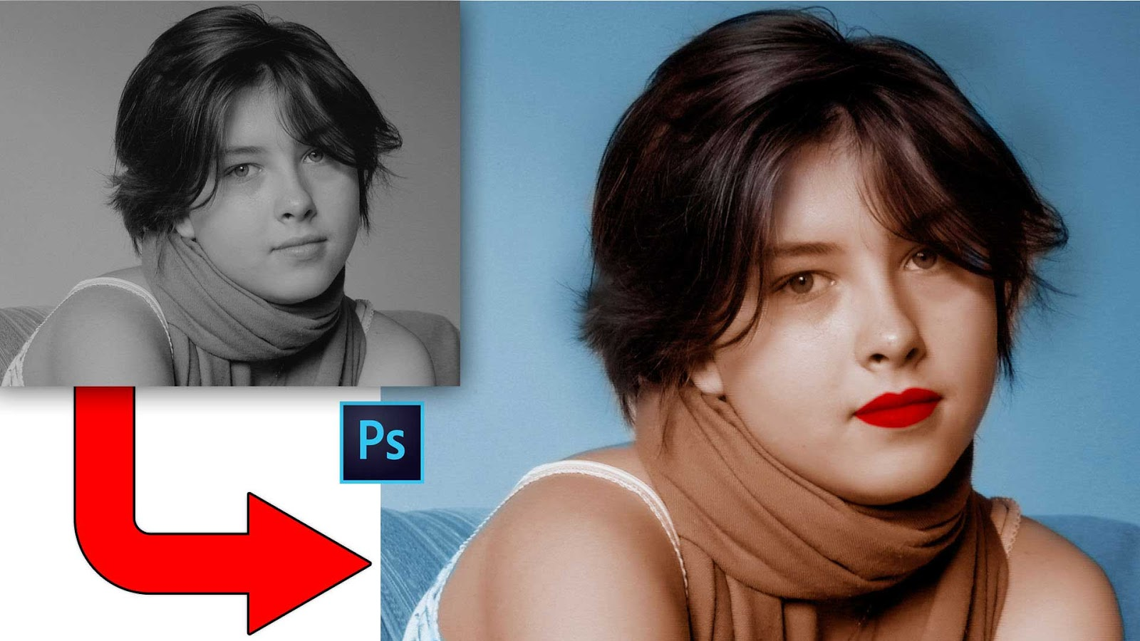 How to convert black and white to color photo in photoshop tutorial black and white to color photo watch video tutorial baditri Choice Image