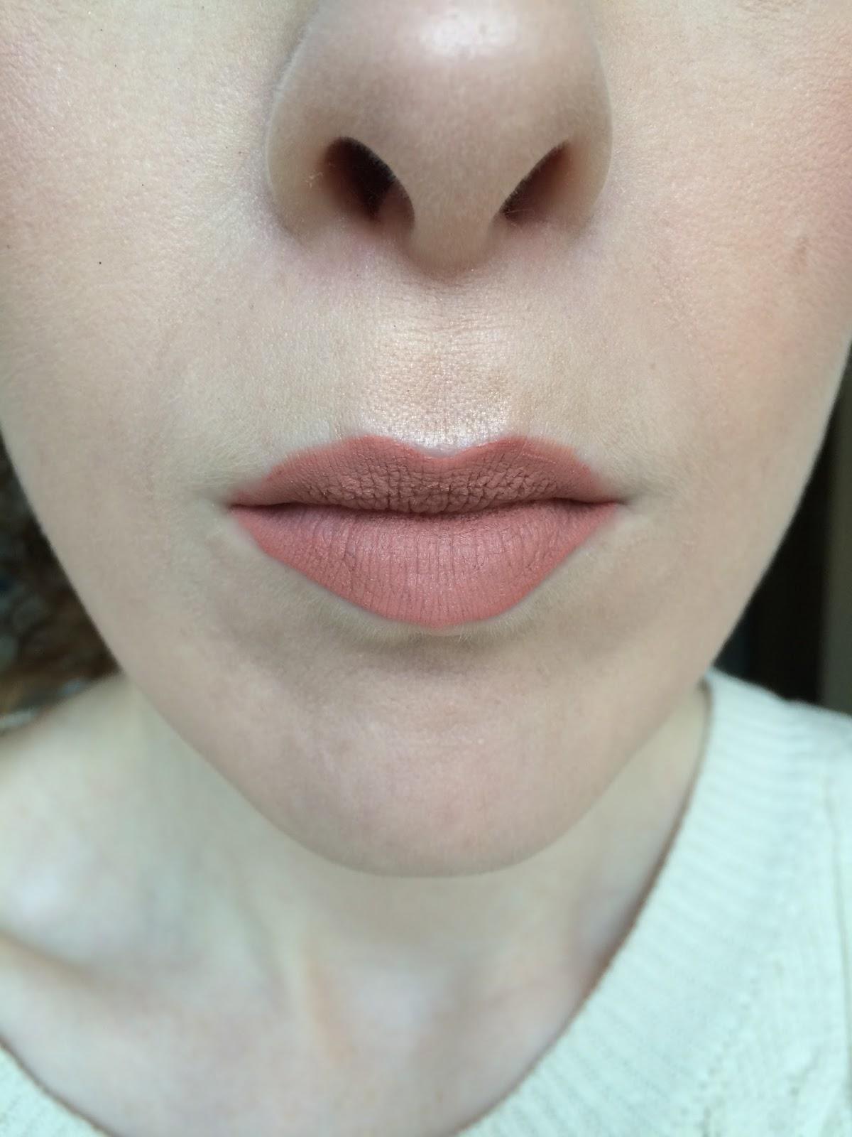 Brave face beauty potential dupe nyx lip lingerie vs for Tarte lip paint namaste