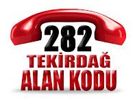 0282 Tekirdağ telefon alan kodu