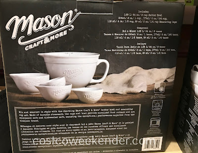 Costco 1338486 - Mason 5-piece Ceramic Batter Bowl and Measuring Cup Set: necessary for any kitchen
