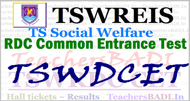 TSWDCET,Tswreis rdc cet Rank cards, tswrdc cet Counselling dates on April 16 and Last date to apply is March 26