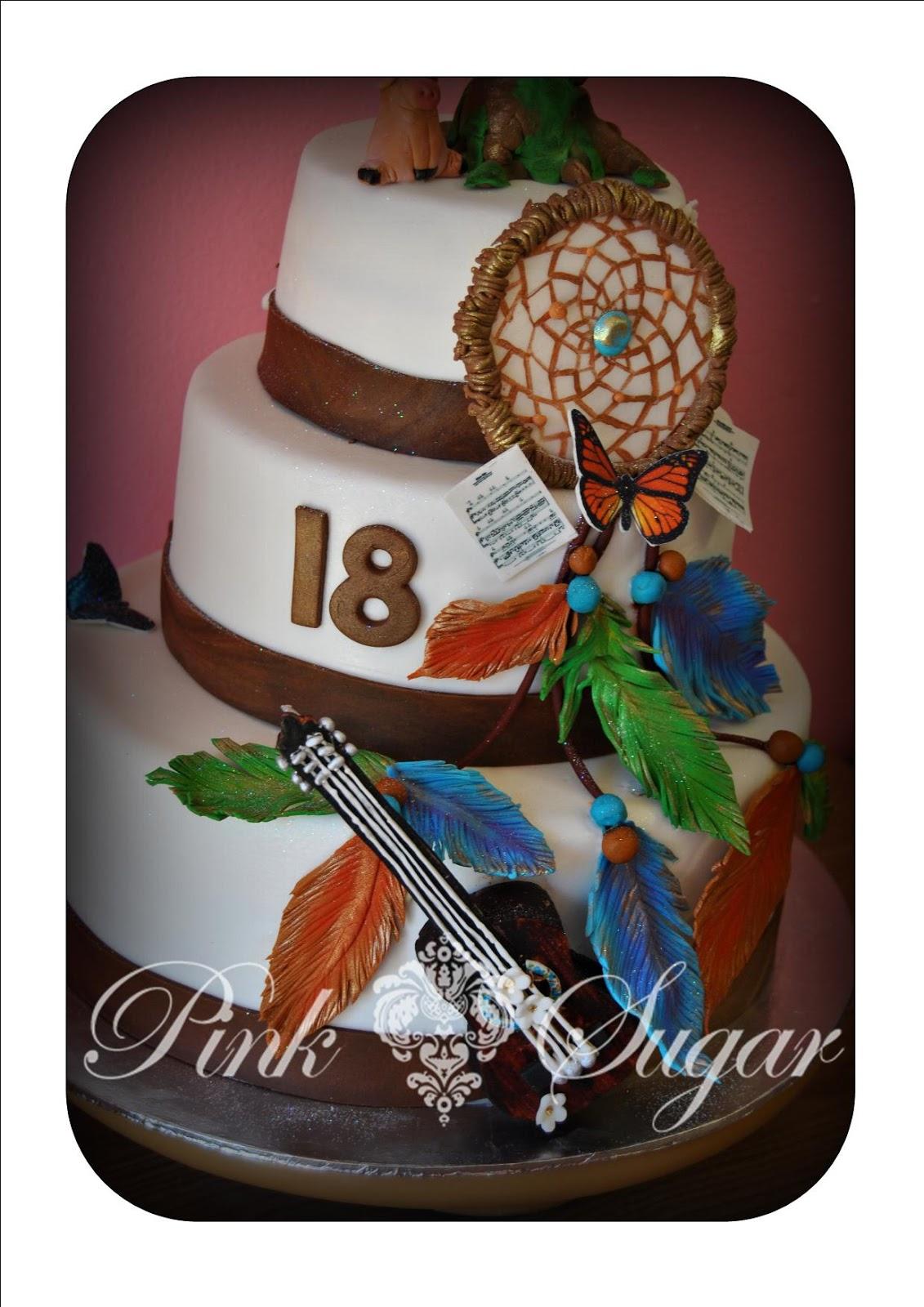 Pink Sugar Dream Catcher Cake