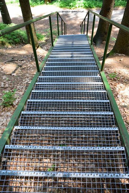 Hruboskalsko-schody na żółtym szlaku