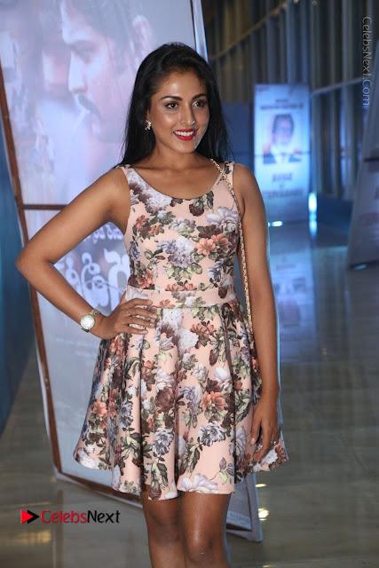 Actress Madhu Shalini Stills in Floral Short Dress at RGV Shiva to Vangaveeti Event  0012.JPG