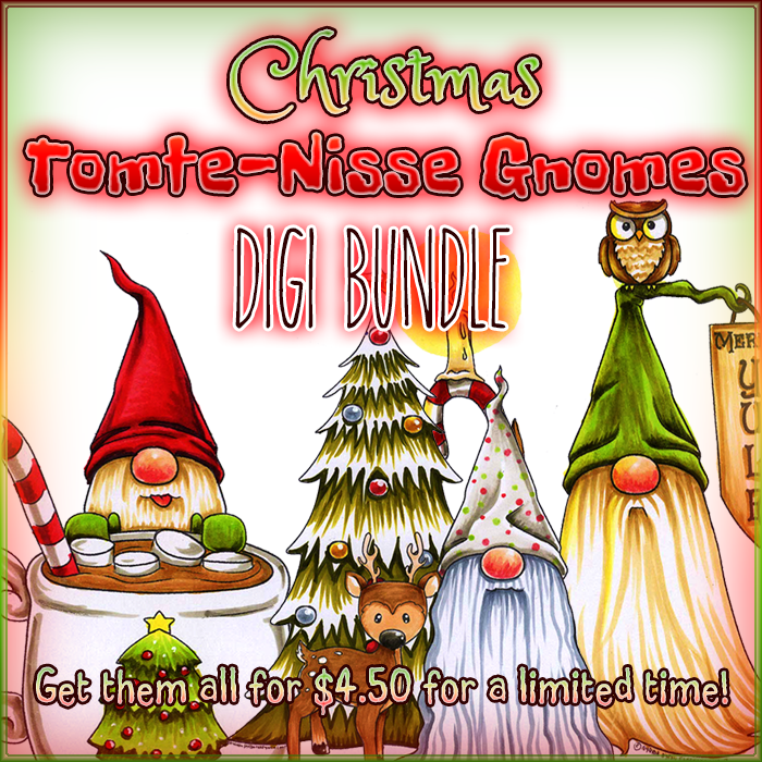 New Releases! Christmas Tomte Gnomes & Witches