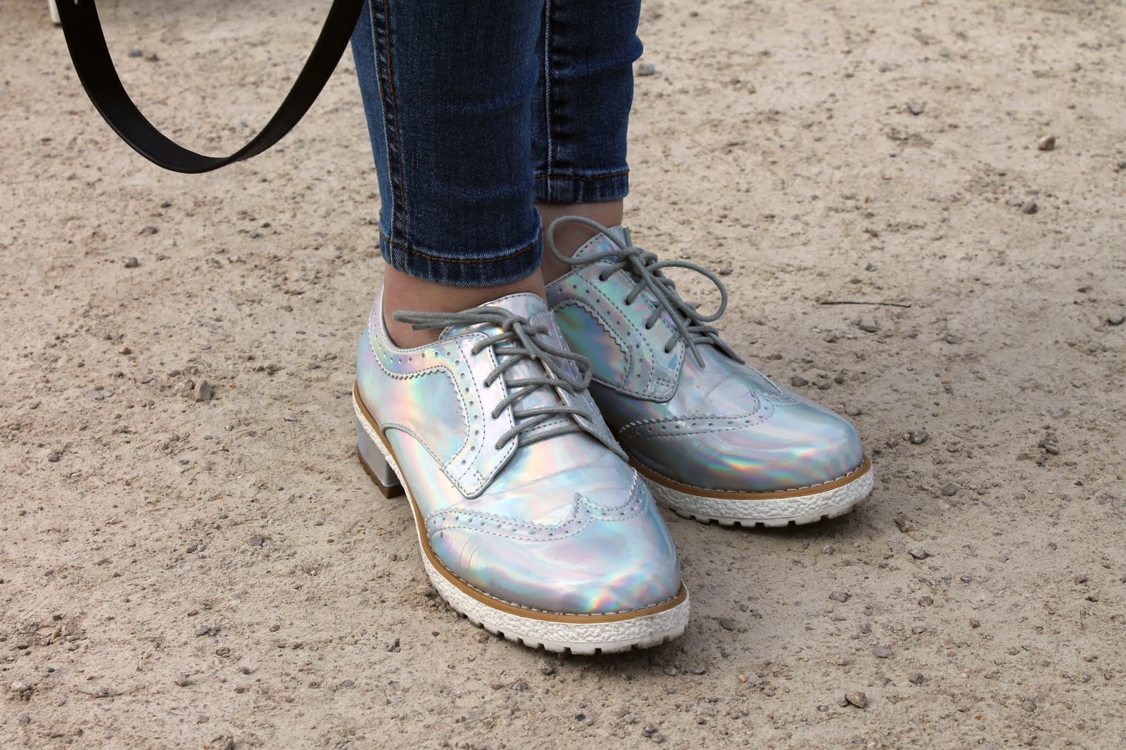 north west fashion festival streetstyle, holographic silver brogues