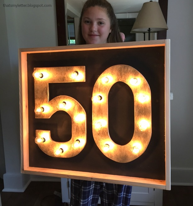diy light up number marquee sign