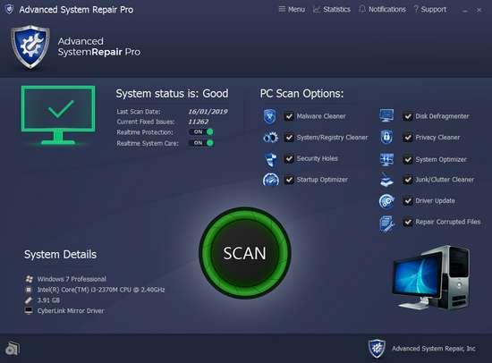 GRATUIT TÉLÉCHARGER ADVANCED 1.8.0.2 REPAIR SYSTEM PRO