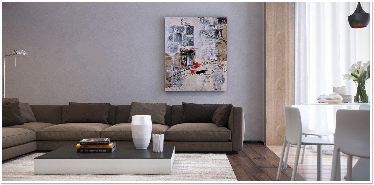 Store vegg kunst for stuer: ideer & inspirasjon   interiør inspirasjon