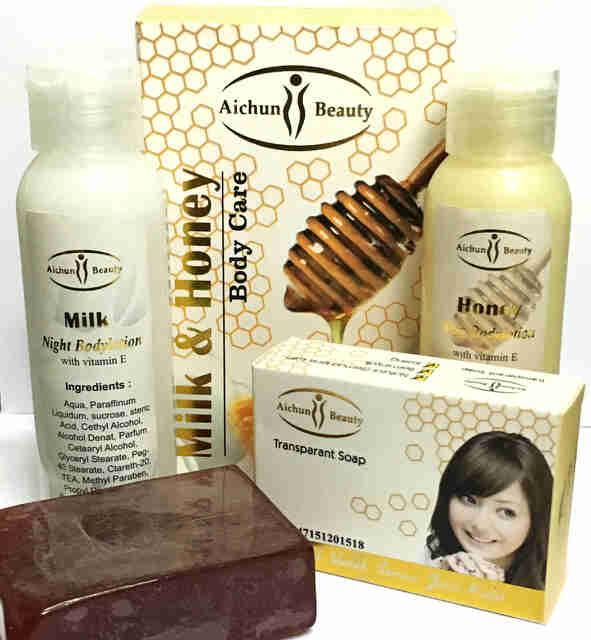 Membersihkan Flek Wajah Dengan Photoshop Cs: Paket Body Lotion Aichun Beauty BPOM