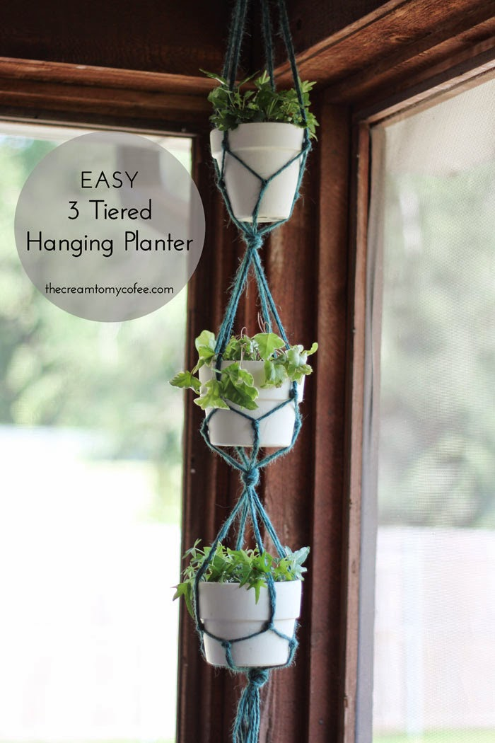 Easy 3 Tiered Hanging Planter The Cream To My Coffee