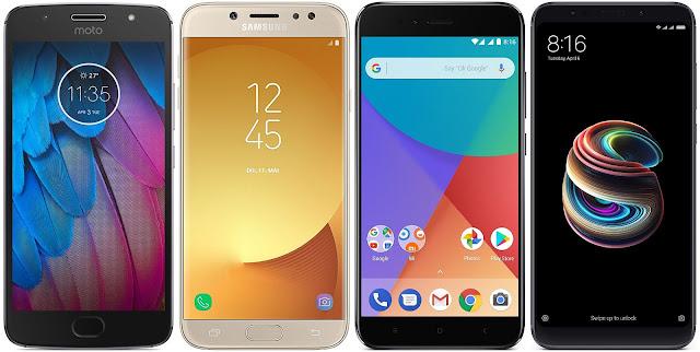 Motorola Moto G5s vs Samsung Galaxy J7 (2017) vs Xiaomi Mi A1 32G vs Xiaomi Redmi 5 Plus 32G