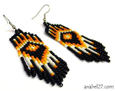 купить серьги в этно-стиле авторские украшения ручной работы из бисера