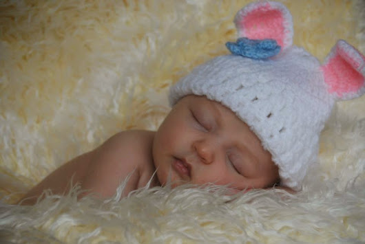 Easter newborn photography