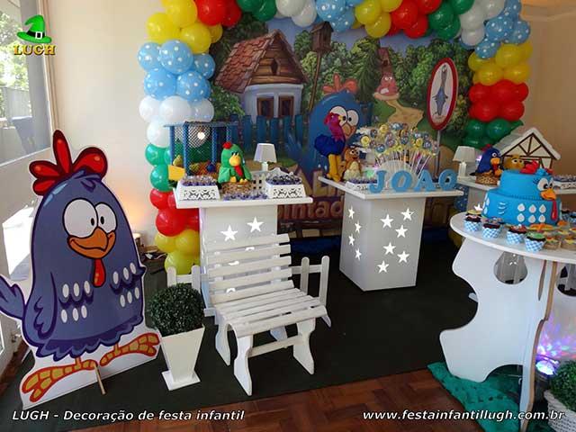 Decoração de aniversário da Galinha Pintadinha - mesa de tema infantil