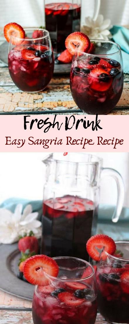 Easy Sangria Recipe Recipe #healthydrink #easyrecipe
