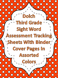 Dolch Third Grade Sight Word Assessment Tracking Binder