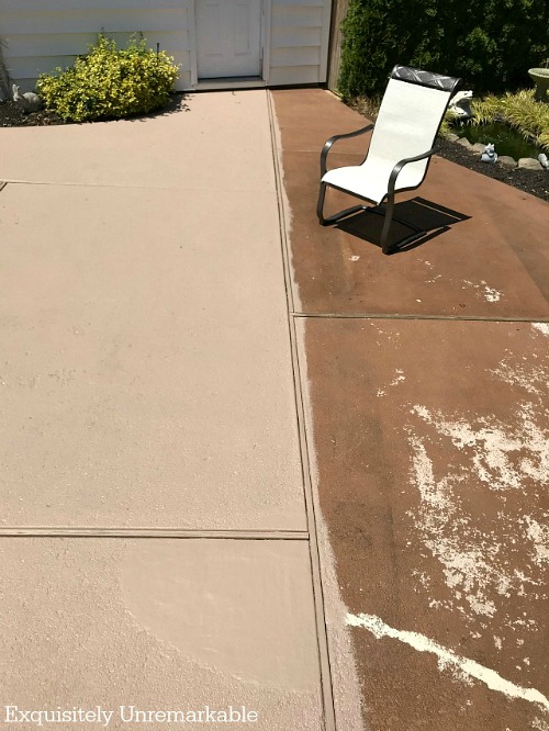 Before And After Painted Cement Patio