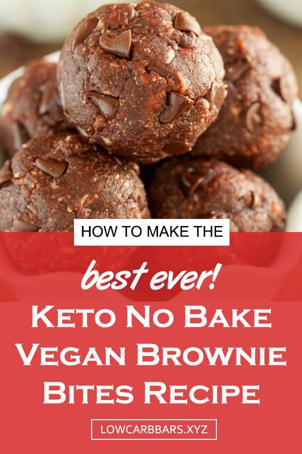 Keto No Bake Vegan Brownie Bites Recipe   snack healthy   healthy snack idea   keto brownies   healthy brownies   gluten free brownies   easy keto brownies   vegan brownies   dairy free brownies recipe #snackhealthy #healthysnackideas #ketobrownies #glutenfree #veganbrownies #dairyfree #paleo #ketogenic #keto #energyballs #energybites