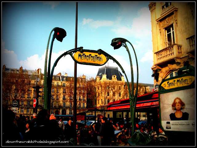Down the wrabbit hole the travel bucket list paris - Saint michel paris metro ...