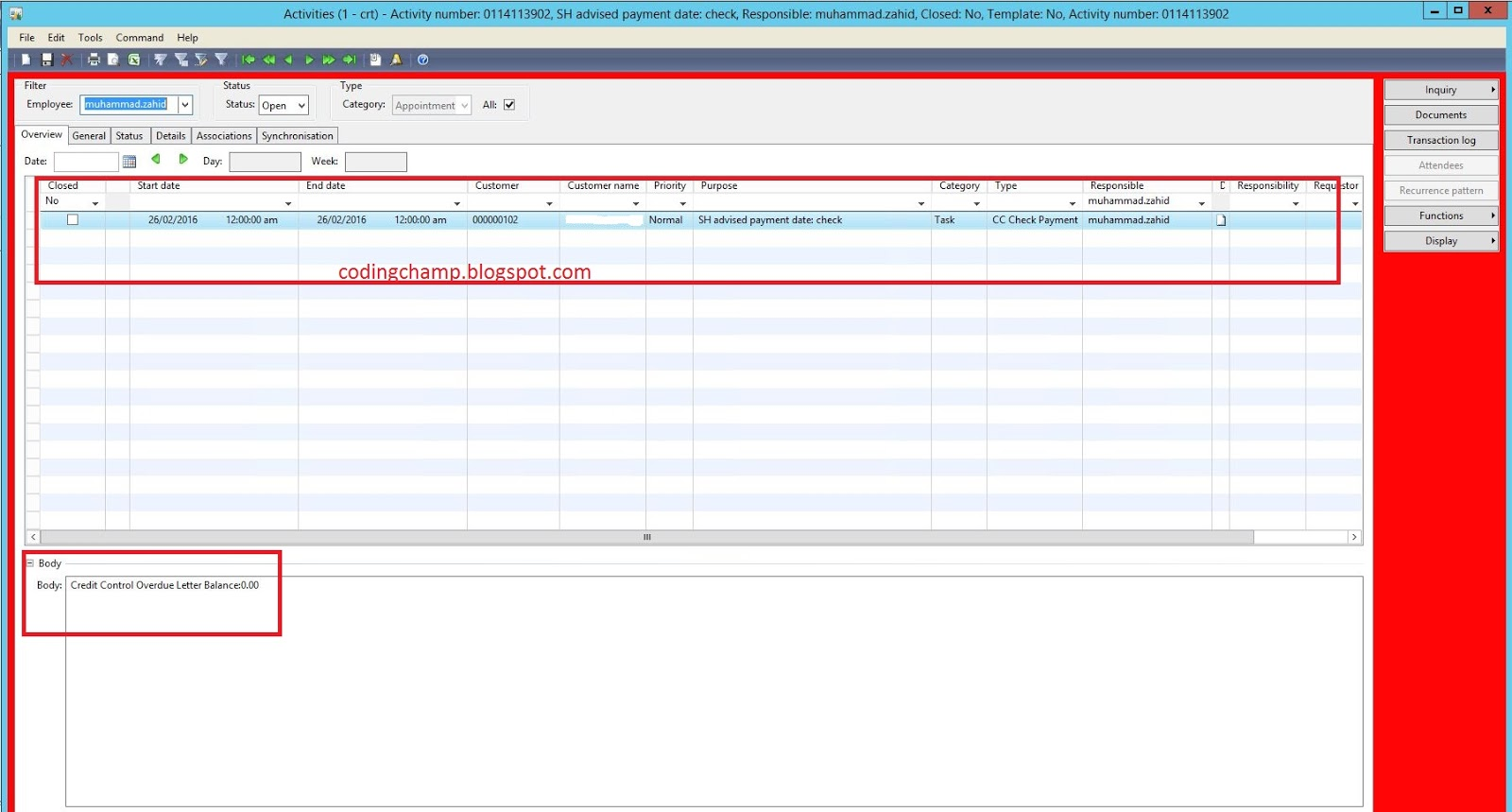 coding champ customize infolog in microsoft dynamics ax 2009 below is the code that i have use to customize the infolog
