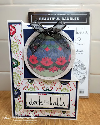 Beautiful Baubles, Under the mistletoe, Stampin' Up, Art with heart, Christmas Cards, DIY Cards, Fancy Fold, Heart of Christmas, Rhapsody in craft