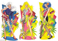 misfits jem holograms stormer pizzazz roxy cartoon doll box green blue white hair